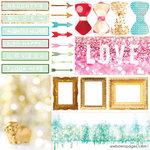 Websters Pages - All That Glitters Collection - Christmas - 12 x 12 Vellum - Loved
