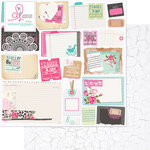 Websters Pages - Beautiful Chic Collection - 12 x 12 Double Sided Paper - Clippings