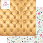 Websters Pages - Beautiful Chic Collection - 12 x 12 Double Sided Paper - Buttoned Up