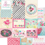 Websters Pages - Beautiful Chic Collection - 12 x 12 Double Sided Paper - Storyteller Card Sheet I