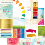 Websters Pages - Dream in Color Collection - 12 x 12 Double Sided Paper - Storyteller Card Sheet II