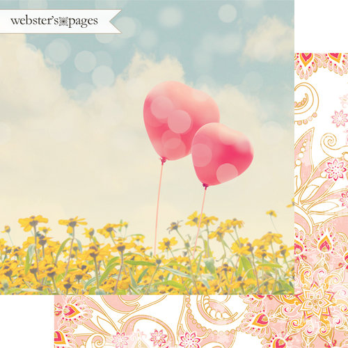 Websters Pages - Dream in Color Collection - 12 x 12 Double Sided Paper - A Great Pair