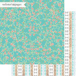 Websters Pages - Dream in Color Collection - 12 x 12 Double Sided Paper - Serenity