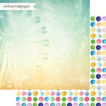 Websters Pages - Dream in Color Collection - 12 x 12 Double Sided Paper - Happy Thoughts