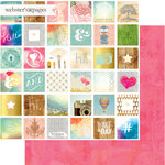 Websters Pages - Dream in Color Collection - 12 x 12 Double Sided Paper - What A Day