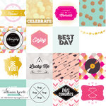 Websters Pages - Happy Collection - 12 x 12 Vellum - Best Day Cards