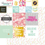Websters Pages - Happy Collection - 12 x 12 Double Sided Paper - Storyteller Card Sheet II