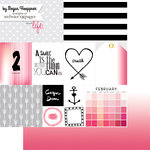 Websters Pages - These Are The Days Collection - 12 x 12 Double Sided Paper - February