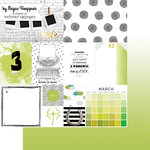 Websters Pages - These Are The Days Collection - 12 x 12 Double Sided Paper - March