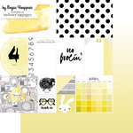 Websters Pages - These Are The Days Collection - 12 x 12 Double Sided Paper - April