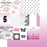 Websters Pages - These Are The Days Collection - 12 x 12 Double Sided Paper - May