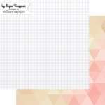 Websters Pages - These Are The Days Collection - 12 x 12 Double Sided Paper - Essential - Grid