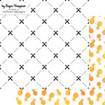Websters Pages - These Are The Days Collection - 12 x 12 Double Sided Paper - Essential - Scissors