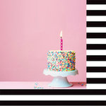 Websters Pages - Make a Wish Collection - 12 x 12 Double Sided Paper - Eat Cake