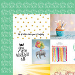 Websters Pages - Make a Wish Collection - 12 x 12 Double Sided Paper - Worth It