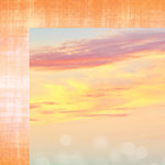 Websters Pages - Painted Passport Collection - 12 x 12 Double Sided Paper - Painted Sunset