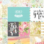 Websters Pages - Painted Passport Collection - 12 x 12 Double Sided Paper - Sending You Love