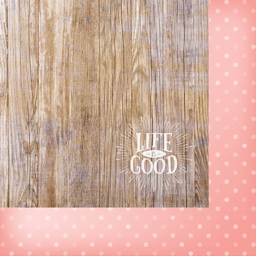 Websters Pages - Painted Passport Collection - 12 x 12 Double Sided Paper - Life is Good