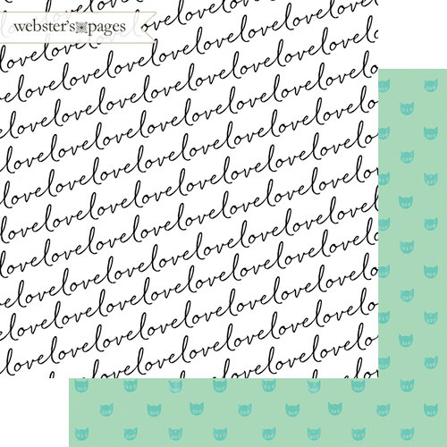 Websters Pages - A New Day Collection - 12 x 12 Double Sided Paper - Sweet Love