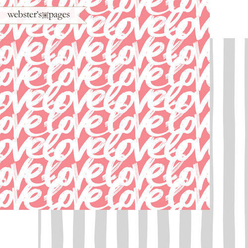 Websters Pages - Love Story Collection - 12 x 12 Double Sided Paper - Just Love