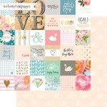 Websters Pages - Love Story Collection - 12 x 12 Double Sided Paper - Dreams Come True