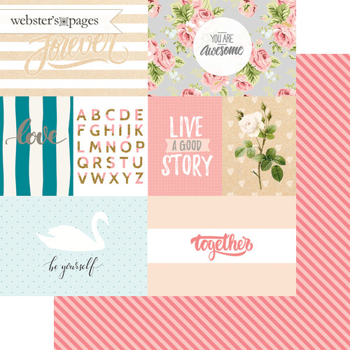 Websters Pages - Love Story Collection - 12 x 12 Double Sided Paper - Be Yourself