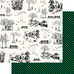 Websters Pages - The Good Life Collection - 12 x 12 Double Sided Paper - Good Life Sketch