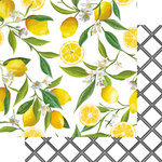 Websters Pages - The Good Life Collection - 12 x 12 Double Sided Paper - Lemon Squeeze
