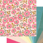 Websters Pages - My Happy Place Collection - 12 x 12 Double Sided Paper - Sunshine