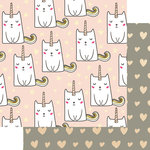 Websters Pages - My Happy Place Collection - 12 x 12 Double Sided Paper - Caticorn
