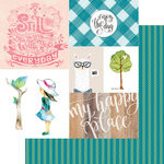 Websters Pages - My Happy Place Collection - 12 x 12 Double Sided Paper - Enjoy The Day