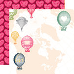 Websters Pages - Love is in the Air Collection - 12 x 12 Double Sided Paper - In the Clouds