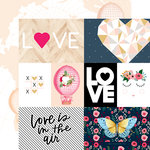 Websters Pages - Love is in the Air Collection - 12 x 12 Double Sided Paper - Love is in the Air