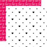 Websters Pages - Love is in the Air Collection - 12 x 12 Double Sided Paper - Hearts