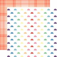 Websters Pages - Changing Colors Collection - 12 x 12 Double Sided Paper - Rainbows
