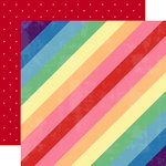 Websters Pages - Changing Colors Collection - 12 x 12 Double Sided Paper - Stripes