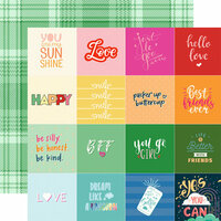 Websters Pages - Changing Colors Collection - 12 x 12 Double Sided Paper - Smile