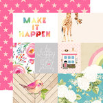 Websters Pages - Changing Colors Collection - 12 x 12 Double Sided Paper - Make it Happen