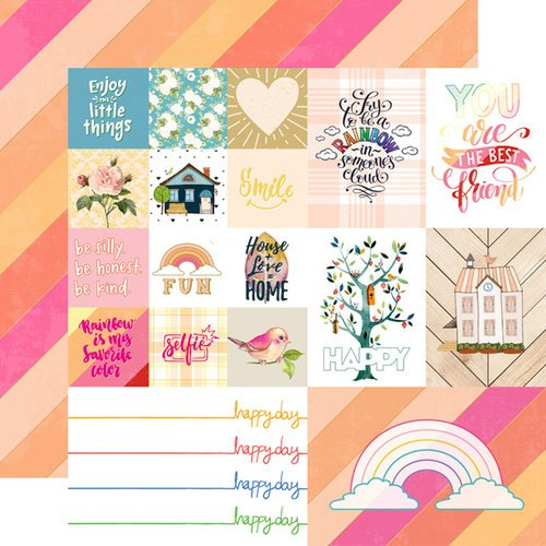 Websters Pages - Changing Colors Collection - 12 x 12 Double Sided Paper - Happy Day