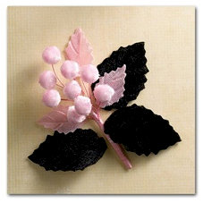 Websters Pages - Hollywood Vogue Collection - Vintage Velvet Berry Bouquet