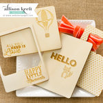 Websters Pages - Hello World Collection - 3 x 4 Wood Veneer Cards