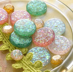 Websters Pages - Sparklers - Non Adhesive Designer Buttons - Assorted Glitter
