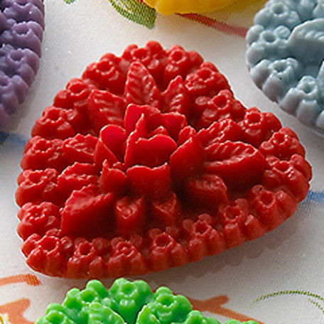 Websters Pages - Whimsies - Resin Embellishments Pieces - Hearts - Red