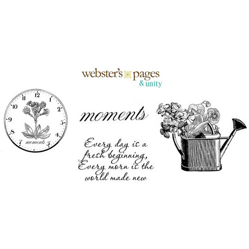Websters Pages - Unity Stamp - Unmounted Rubber Stamp Set - Every Moment