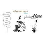 Websters Pages - Unity Stamp - Unmounted Rubber Stamp Set - Springtime