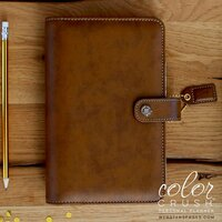 Websters Pages - Color Crush Collection - Personal Planner Binder - Walnut