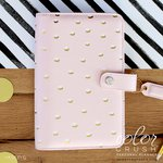 Websters Pages - Color Crush Collection - Personal Planner Binder - Blush and Gold Foil Dot