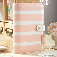 Websters Pages - Color Crush Collection - Personal Planner Binder - Blush Stripe