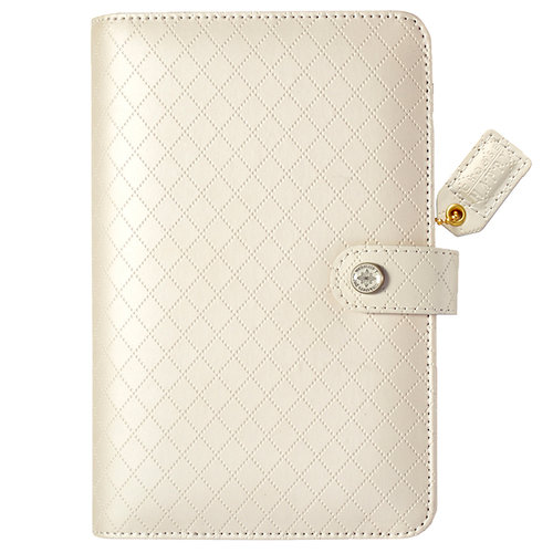 Websters Pages - Color Crush Collection - Personal Planner Binder - White Diamond Stitching