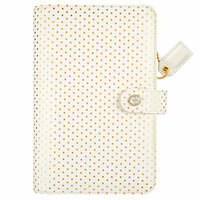 Websters Pages - Color Crush Collection - Personal Planner Binder - Embossed Gold Dot